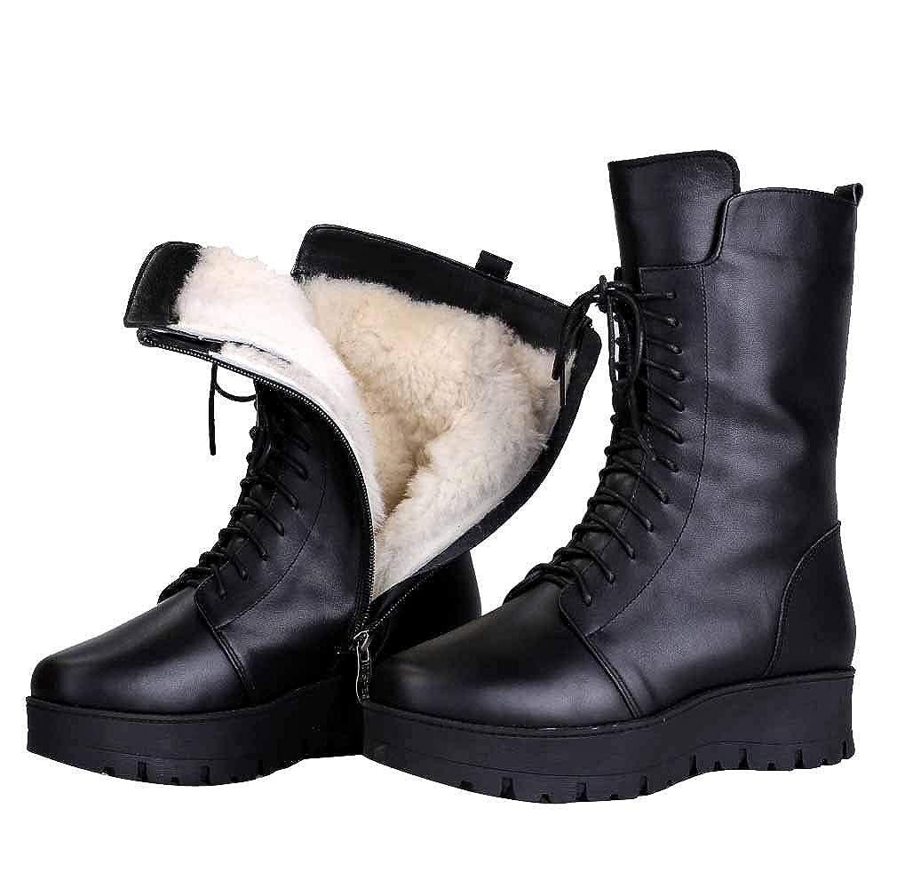 Martin Stiefel Schneestiefel Winterwolle Hält Warm Arbeit Dienstprogramm Biker Casual Stiefelies Schuhe Outdoor Vintage Stiefel