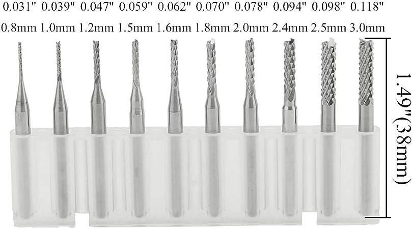 Print Circuit Board Micro Drill Bits Set Spiral PCB Tungsten Steel Thread