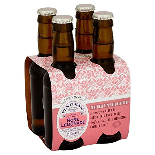 Fentimans Botanically Brewed Rose Lemonade - 4 x 200ml (27.05fl (200 Ml Rose)