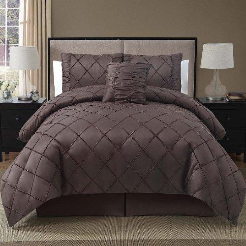 Victoria Classics Santiago 4-Piece Comforter Set, King, Chocolate