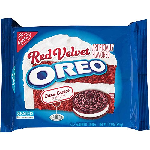 Oreo Red Velvet Wafers Filled with Cream Cheese Flavored Creme.Cookies, 12.2 Ounce - 12 per case. ()