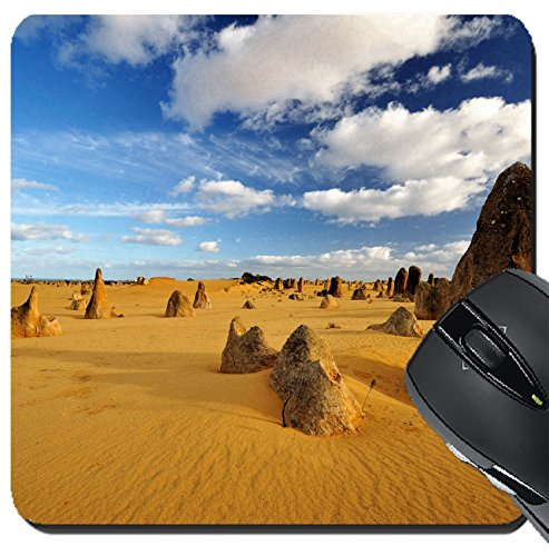 MSD Suqare Mousepad 8x8 Inch Mouse Pads/Mat design 20342243 Pinnacles desert on a sunny day Western - Australia Sunnies