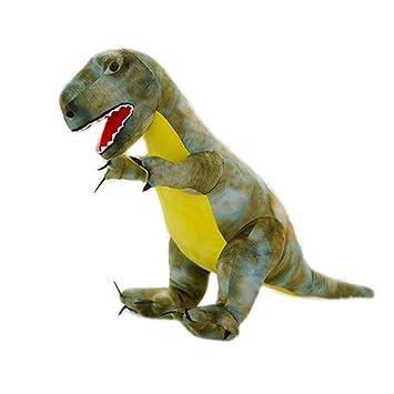 Simulación Animales de peluche dinosaurios y juguetes de peluche para niños (T-Rex Verde