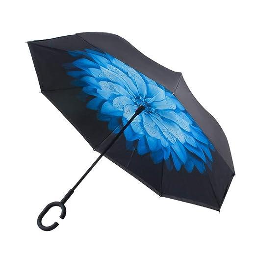 SHANGRUIYUAN-Umberllas Paraguas invertido invertido al revés con ...
