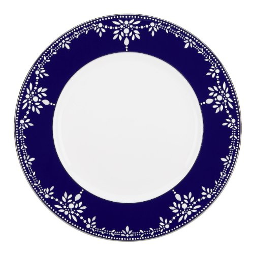 Lenox Marchesa Couture Dinner Plate, Empire Pearl Indigo (Couture Plate Dinner)