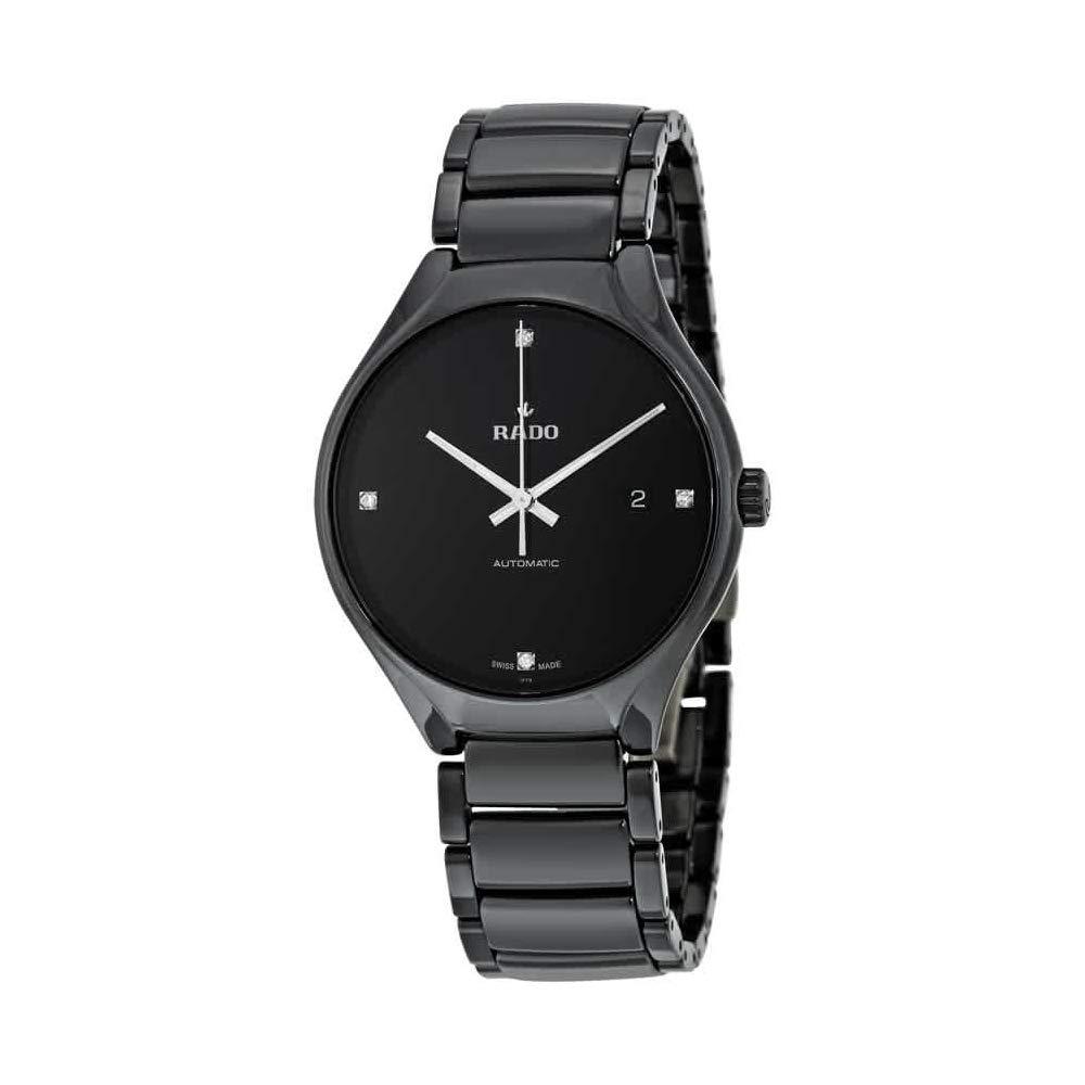 530f74ed1 Amazon.com: Rado R27056722 True Automatic Diamond Mens Watch - Black Dial:  Rado: Watches