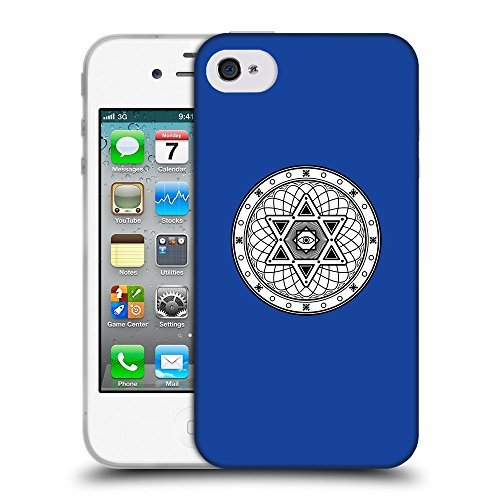 GoGoMobile Coque de Protection TPU Silicone Case pour // Q09680613 Mystique occulte 17 Bleu // Apple iPhone 4 4S 4G