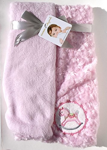 Blankets and Beyond Teepee,Bear, Rabbit Arrow Print Pink Baby Blanket