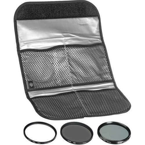 Hoya 77mm (HMC UV/Circular Polarizer / ND8) 3 Digital Filter Set with Pouch (Hoya Mm Filter 77)