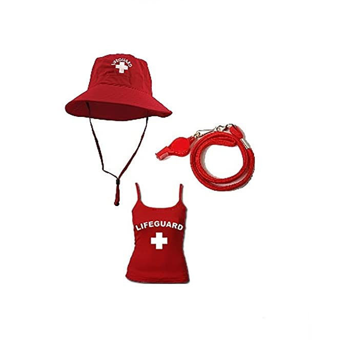 652a54e60b36 Amazon.com  Lifeguard Master Ladies Fisher Hat Tank TOP Combo-Medium ...