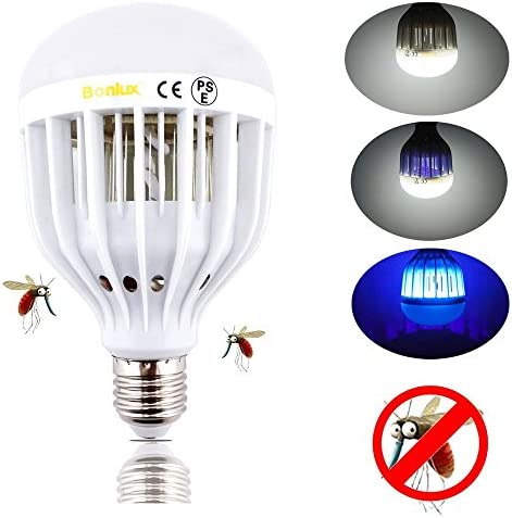 Bonlux LED Bug Zapper Light Bulb Medium Screw E26 Base 120V 10W Zap Wasp Bug  Mosquito Zapper LED UV Lamp Flying Insects Moths Killer For Porch Deck Patio  ...