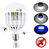 Bonlux LED Bug Zapper Light Bulb Medium Screw E26 Base 120V 10W Zap Wasp Bug Mosquito Zapper LED UV Lamp Flying Insects Moths Killer for Porch Deck Patio Backyard Room Kitchen (Daylight)