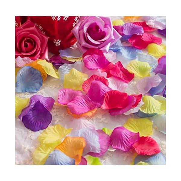 La Tartelette Silk Rose Petals Wedding Flower Decoration (2000 Pcs, Blackish green)