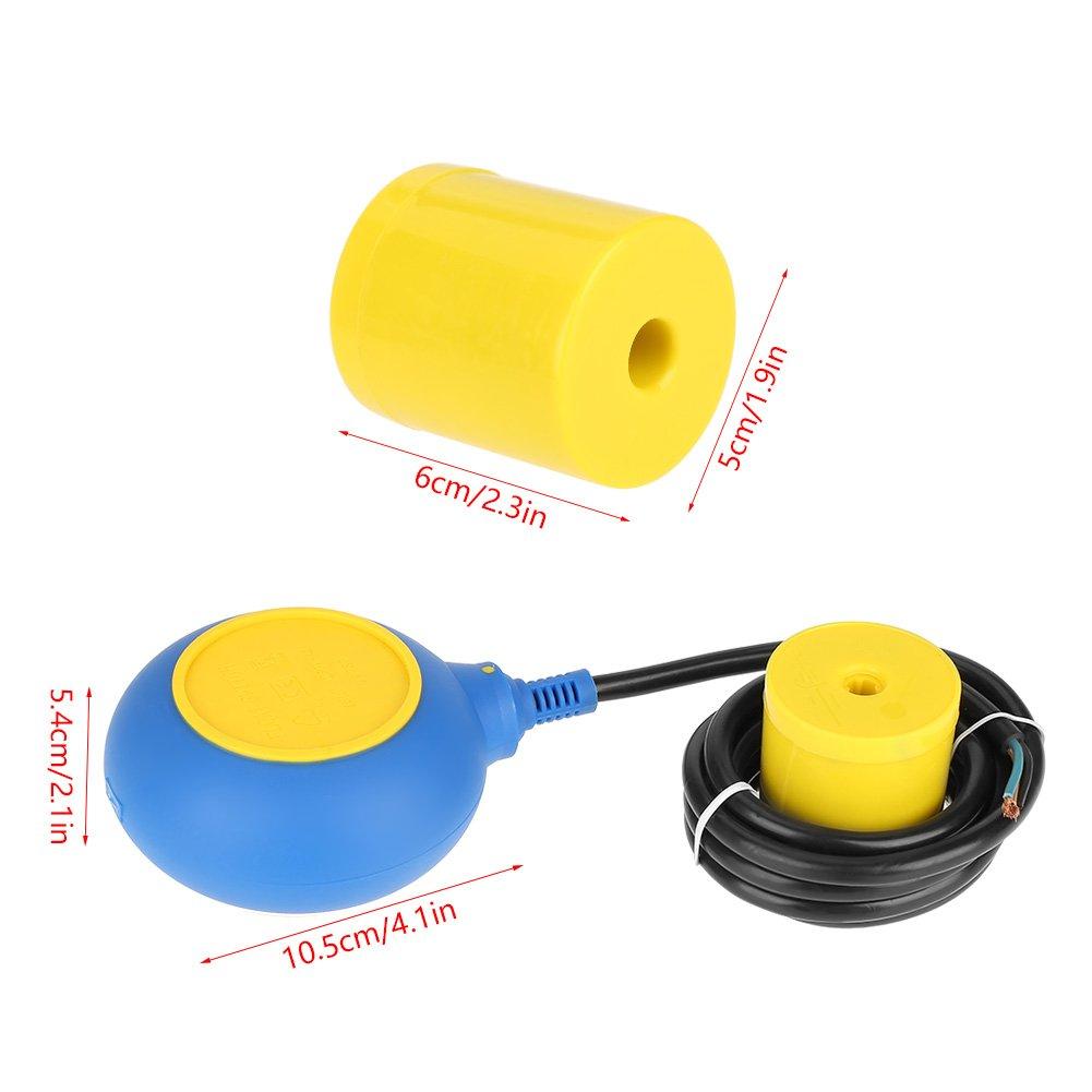 Sensor nivel agua líquida, interruptor de flotador Controlador de nivel de agua líquida Sensor de contactor Interruptores de flotación verticales líquidos: ...