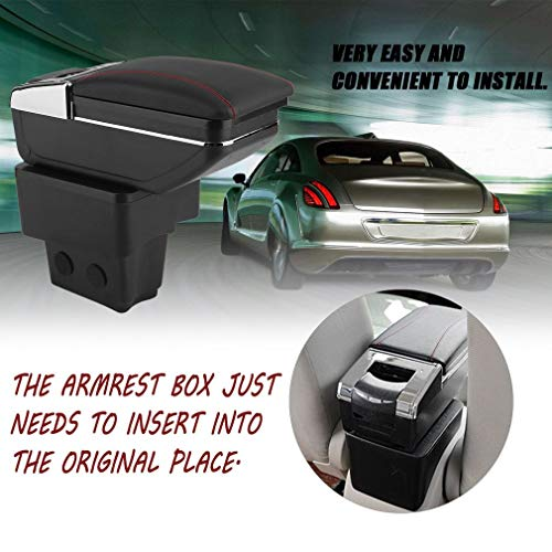 YTYC Automotive Central Console Armrests Box Glove Phone Ashtray Storage Case