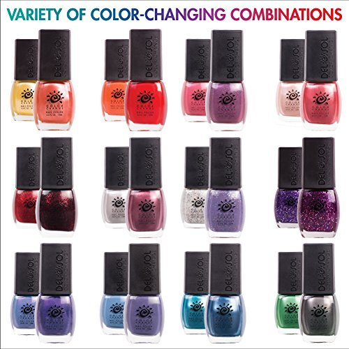 Amazon.com : Del Sol Color Changing Nail Polish, Quick Dry Lacquer that Changes Color in the Sun! 0.5 ounce (15ML) Full Size Bottle (Barely There) : Beauty