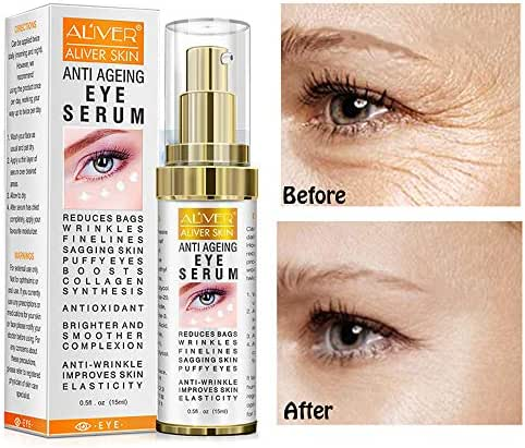 Hyaluronic Acid Eye Essence Cream,Collagen Anti-Aging Seru,Best Eye Gel ,for Women Eye Wrinkles, Fine Lines, Dark Circles, Puffiness, Bags .(15ml)