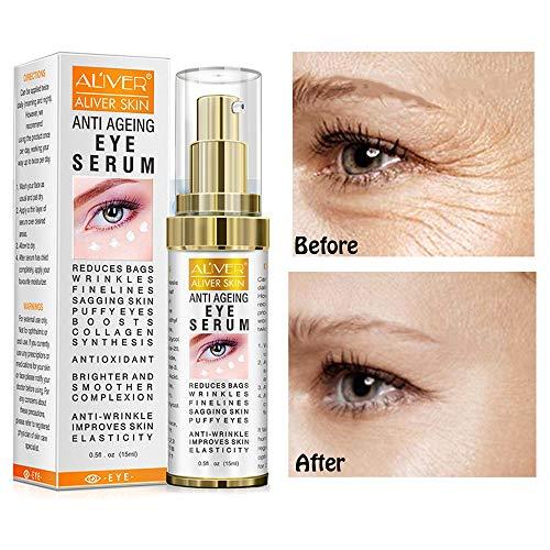 Hyaluronic Acid Eye Essence Cream,Collagen Anti-Aging Seru,Best Eye Gel ,for Women Eye Wrinkles, Fine Lines, Dark Circles, Puffiness, Bags .(15ml) (Best Eye Cream For Teenager)