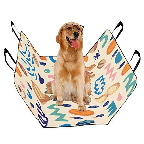 JTMOVING Fashion Oxford Pet Car Seat Hazelnut Dried Fruit Snacks Creative Waterproof Nonslip Canine Pet Dog Bed Hammock Convertible for Cars Trucks SUV
