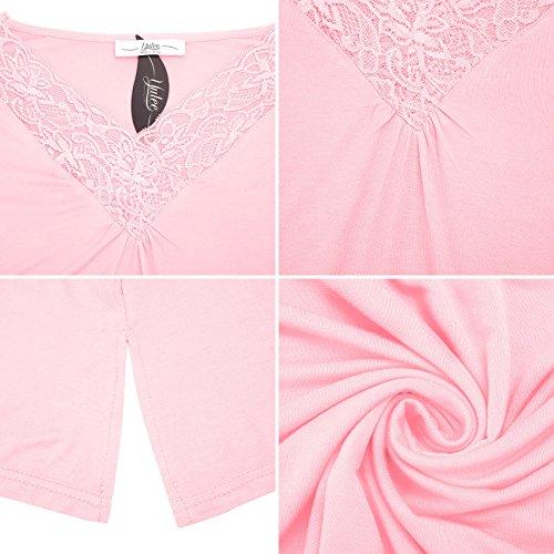 Yulee Mujeres Camis¨®n de algod¨®n sin mangas ropa de dormir Pink