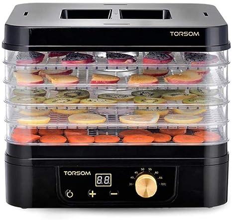 Opinión sobre L.TSA Deshidratador de Alimentos Secadora de Frutas, Temporizador de Temperatura Ajustable Silenciador Bandeja de Acero Inoxidable de 5 Capas Máquina de Alimentos Secos para Alimentos deshid