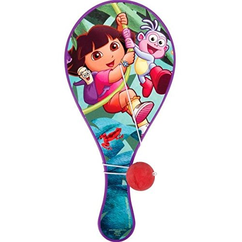 Colorful Dora the Explorer Birthday Party Paddle Ball Toy Favour (1 Piece), Purple, 8
