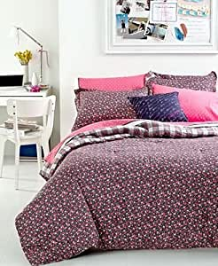 Tommy Hilfiger Comforter Set Emory Twin Twin Xl Reversible Floral Stripe Green Pink
