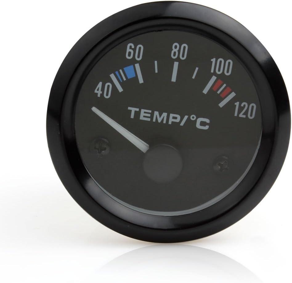 Wasser Temperaturanzeige Auto Instrument 5 1 Cm 12 V Universal Misst 40 120 C Weiße Led Auto