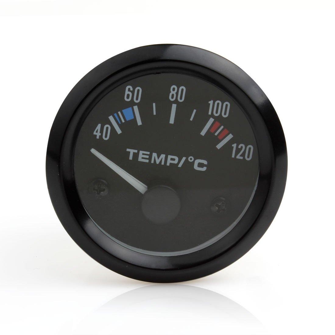 Instrumentos de coche, 12 V, 5 cm, universal, puntero de temperatura del agua del coche, Medidor de temperatura de 40 a 120, LED blanco 12V universal LED blanco EPATH DIRECT