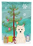 Caroline's Treasures BB4167GF Merry Christmas Tree Westie Garden Size Flag, Small, Multicolor