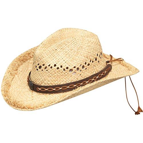 Price comparison product image Blazin Roxx Women's Bronze Concho Raffia Hat,  Natural,  S