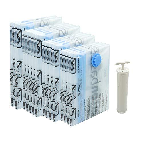 AmazonBasics Vacuum Compression Storage Bags with Hand Pump