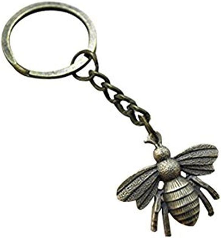 Grande Abeja llavero, Honeybee llavero, llavero con colgante ...