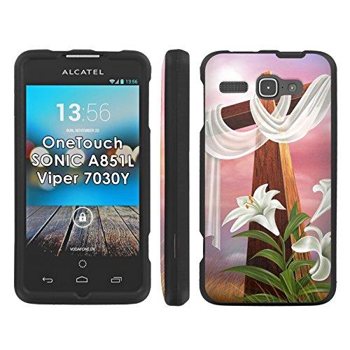 Sonic Cross - Easter Cross - Mobiflare Alcatel OneTouch Sonic 851L 7030Y Viper Slim Guard Armor Black Phone Case