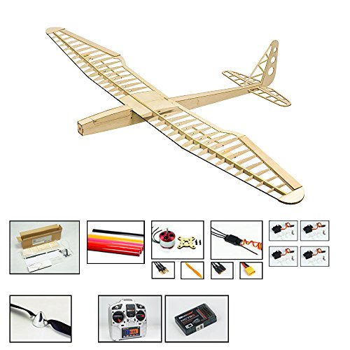 Balsa Wood Radio Remote Controlled Electric F16 Glider Sunbird Aeroplane Laser Cut Kit Wingspan 1600mm Un-Assembled for Adults;Need to Build for Flying Hobby Play (F1604C-L4)