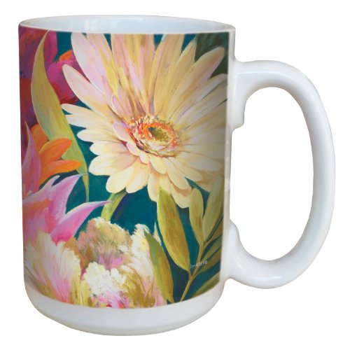 (Tree-Free Greetings lm43698 Floral Bouquet by Nel Whatmore Ceramic Mug, 15-Ounce)