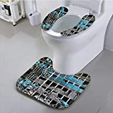 Bathroom Household Rug Metal Pipe Steel Angled bar and PVC Pipe Stack on Shelf Convenient disassembly
