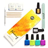 Thinkmax 7.3 ML Colorful Non-toxic Nail Polish Set DIY Nail Art Varnishes Top Base Coat Manicure Tools Kit Fast Dry,Easy Soak Off for Girl Women