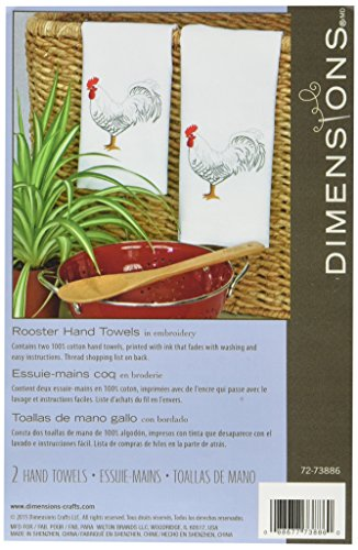 Dimensions 72-73886 Hand-Stitched Rooster Guest Towel Sewing Kit