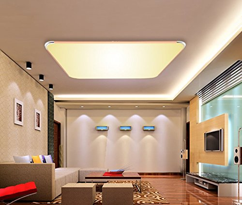 SAILUN 36W Warmweiss Ultraslim LED Deckenleuchte Modern Deckenlampe Flur Wohnzimmer Lampe Schlafzimmer Kuche Energie Sparen Licht