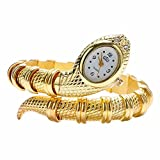 Nextstart Unique Design Snake Shaped Bracelet Style Watch Woman Diamond Ornaments Gfit Casual watch