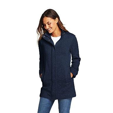 71ea76b7b9a Lands' End Women's Sweater Fleece Coat, S, Tide Pool Heather at Amazon Women's  Coats Shop