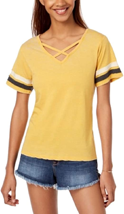 Ultra Flirt by Ikeddi Juniors Crisscross Football T-Shir