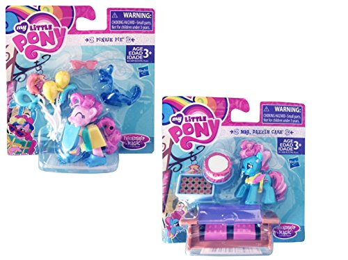 Secret for Longevity 2-Pack Little Pony Horse Pinkie Pie Dazzle Cake Figures Accessories Toy Play Set