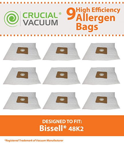 9 Cloth Vacuum Bags for Bissell Clean Along & PowerGroom Pet