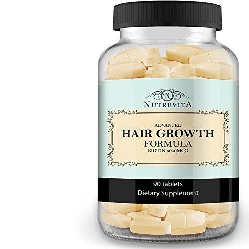 Price comparison product image Nutrevita Biotin Vitamins For Hair Growth