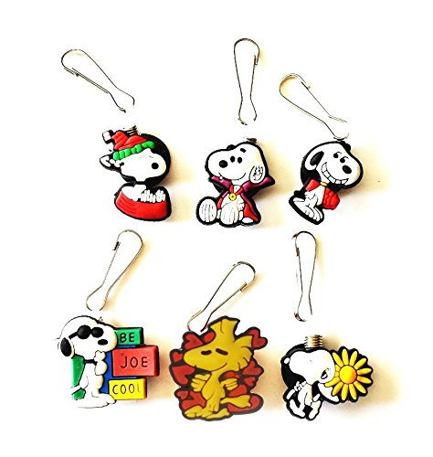 Sally From Charlie Brown Costumes (AVIRGO 6 pcs Zipper Pull / Zip pull Charms for Jacket Backpack Bag Pendant Set # 97-2 by Hermes)