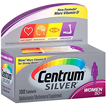 Centrum Silver Women (100 Count) Multivitamin/Multimineral Supplement Tablet, Vitamin D3, Age 50+