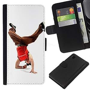 Ihec-Tech / Flip PU Cuero Cover Case para Sony Xperia Z1 L39H - Design Break Dancer Man