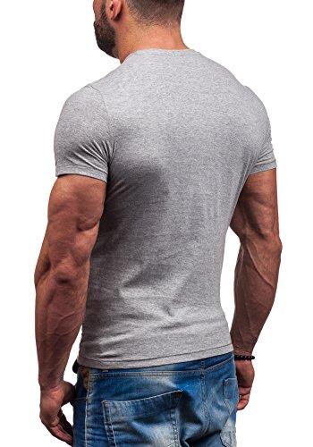 GLO STORY Hombre Camiseta Manga Corta 7452 Gris